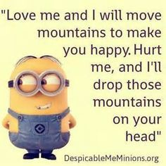 Best minion quotes ever on Internet! Find top funny minion quotes and pictures here. Awesome collection of minions quotes and pics. Get funny minion quotes Humor Minion, Funny Minion Memes, Minions Quotes, Funny Jokes, Hilarious, Minion Sayings, Minion Stuff, Funny Food, Image Minions