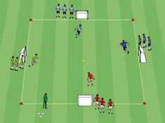 Score for the advantage is a fun game where players get to add a teammate to help them each time they score a goal. Soccer Practice Drills, Football Coaching Drills, Soccer Training Drills, Soccer Drills For Kids, Soccer Workouts, Soccer Skills, Youth Soccer, Kids Soccer, Soccer Games
