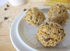 Peanut Butter Oatmeal Chocolate Chip Protein Cookie Balls