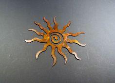 PIPER :: Spirit Sun by Shane Juhnke. Metal Wall Hanging Sculpture. Steel, Patina.