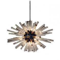 QZ6606 SPUTNIK ELLIPTICAL CHANDELIER    This piece is customize-able to your size, finish and color preference and ships free worldwide!!
