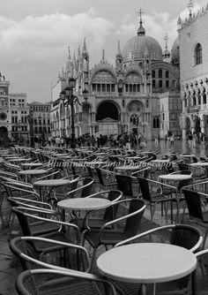 Cafe in St Mark's Square Venice   8 x 12 Fine by illuminatedluna, $23.95