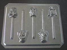 Star Wonders Faces Chocolate Candy Lollipop Mold Star Wars Storm Troopers -- You can find more details by visiting the affiliate link Amazon.com.
