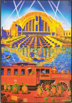 Grateful Dead Terrapin Station Limited Edition Poster, 1st printing. Signed by Phil Lesh and Bob Weir. Estimate: $500-700