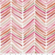 Pink Painted Chevron Fabric by Carousel Designs.