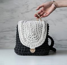 Stylish knit backpack Handmade Knitting Backpack Summer