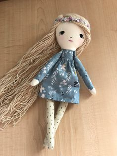 Rag Doll Fabric Dolls Cloth Doll Dolls by littlewildwooddolls