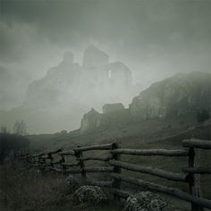 The ruins were there, but cross the fence we did not dare.