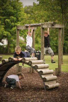 Outdoor Fun: 25 Fun Outdoor Playground Ideas For Kids. natural playground ideas 25 Fun Outdoor Playground Ideas For Kids Kids Outdoor Play, Outdoor Play Areas, Kids Play Area, Outdoor Fun, Backyard Play Areas, Kids Fun, Play Yard, Happy Kids, Outdoor Spaces