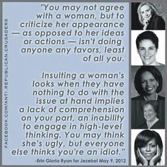 THIS! I don't care who you disagree with or why - ad hominem attacks are never the solution.