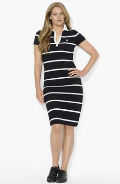 On my list to buy this summer - Lauren Ralph Lauren Stripe Polo Dress| Nordstrom