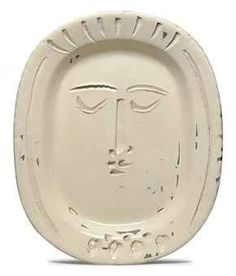 PIcasso's Woman's Face ceramic plate