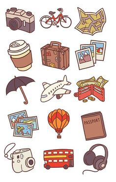 Bujo icons/doodles by flickr @annikatran