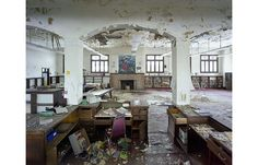 Ruins of Detroit   Somehow, leaving the books behind really gets me    St Christopher House, ex-Public Library