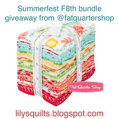 Giveaway Mondays - Fat Quarter Shop