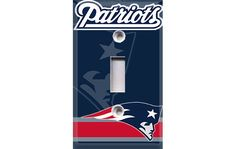 New England Patriots Light Switch Cover by Crazy8Zdecor on Etsy, $6.99