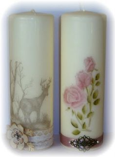 Stamped Candles - tutorial
