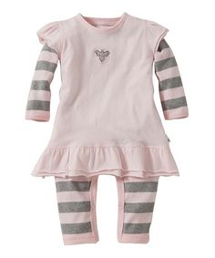 This Blossom & Gray Coverall & Dress - Infant by Burt's Bees Baby is perfect! #zulilyfinds