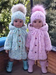 I love these wee jackets/coats & hats. They are adorable 🎀