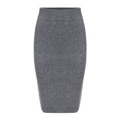 SheIn(sheinside) Grey Slim Split Sweater Skirt ($20) ❤ liked on Polyvore featuring skirts, grey, knee length pencil skirt, stretchy pencil skirt, knee high skirts, stretchy skirt and grey skirt