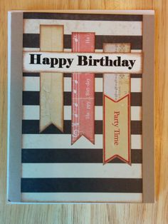 Happy Birthday It's Party Time Card by Cindysnoopy on Etsy, $3.50