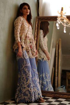 Rust gold embellished dress by Eden Robe eid collection Shadi Dresses, Pakistani Formal Dresses, Pakistani Outfits, Indian Dresses, Indian Outfits, Frock Fashion, Fashion Wear, Fashion Dresses, Indian Designer Outfits