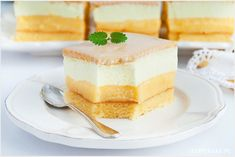 Cytrynowiec - I Love Bake Cake Recipes, Snack Recipes, Snacks, German Desserts, Polish Recipes, Polish Food, Food Cakes, Vanilla Cake, Tiramisu