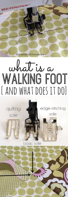 Have you every wondered How to Use a Sewing Machine Walking Foot. Learn what exactly a Walking is and what a Walking Food does. The Seasoned Homemaker.