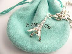 Tiffany & Co. Silver Eiffel Tower Charm Bracelet