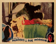 Lobby Card from the film Murder In The Rue Morgue