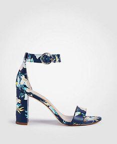 04618f53808a Ann Taylor Leannette Floral Leather Block Heel Sandals Chic Shop