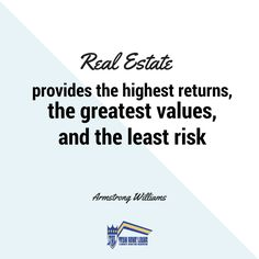 Why real estate is the best investment.