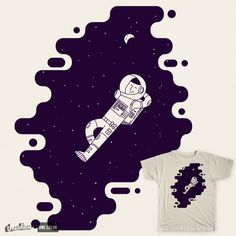 Chilling in Space by Arkzai on Threadless