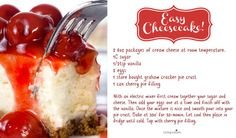 Easy & Delicious Cherry Cheesecake Recipe