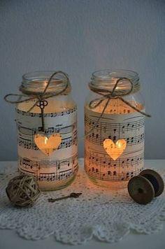 Imagen de music, heart, light and jar