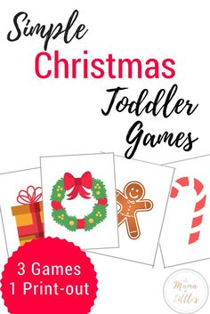 Simple Christmas games for toddlers that allow them to learn and play while celebrating the season! Christmas Activities For Toddlers, Toddler Christmas Gifts, Holiday Games, Christmas Activities For Kids, Fun Games For Kids, Rainy Day Activities, Toddler Learning Activities, Christmas Party Games, Games For Toddlers