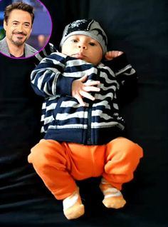 Another beautiful picture of Exton Elias son of Susan and Robert Downey Jr. So cute!