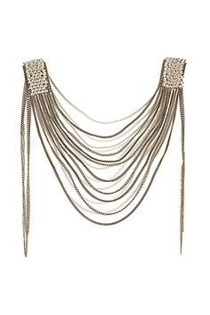 Pearl Shoulder Drape - elegance with a bit of an edge