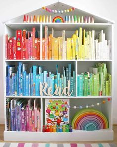 These Kid's Bedroom Storage Ideas Are A Must See! Clever Storage and Beautiful Designs Create the Perfect Bedroom For Boys and Girls Kids Bedroom Organization, Kids Bedroom Storage, Playroom Organization, Kids Storage, Storage Ideas, Book Storage Kids, Storage Hacks, Small Playroom, Toddler Playroom