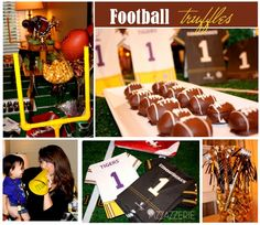 Football Oreo Truffles and other football table tips for tailgate parties