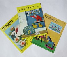 3 Vintage 1960s Feltcraft Booklets £4.50