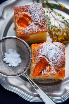 Apricot cake - a delicious summer treat with just a few simple ingredients! Armenian Recipes, Hungarian Recipes, Fall Recipes, Sweet Recipes, Christmas Recipes, Apricot Cake, Food Wishes, Romanian Food, Sweet Peach