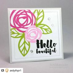#Repost @ardythpr1 with @repostapp  ・・・  Inspired by Valentyna for this week's @musecardclub . I used #essentialsbyellen #cardmaking #handmadecards #maskeradecards