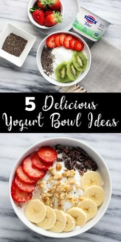Switch up your snacks with these 5 easy yogurt bowl ideas! Grab a scoop of Switch up your snacks with these 5 easy yogurt bowl ideas! Grab a scoop of Total Greek yogurt and add a tasty combination of toppings for a satisfying treat! Healthy Breakfast Recipes, Healthy Recipes, Greek Yogurt Recipes Breakfast, Recipes With Greek Yogurt, Healthy Breakfasts, Healthy Tasty Snacks, Healthy Tacos, Thm Recipes, Yogurt Bowl