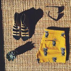 Going bananas, err pineapples, for @anntaylorstyle, @sunglasshut, @solefoodshoes & @ravennagardens.