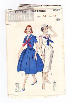 1950s Sailor Dress Pin Up Sailor Dress by OldSoulVintageltd, $35.00