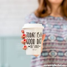 Mug Take away Today is a good day de la marque Mr.Wonderful à découvrir sur Twicy.