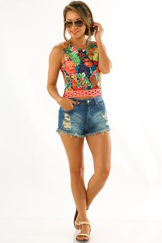 Flower Me With Love Top: Multi