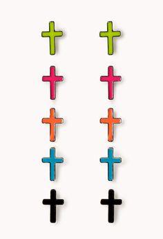 Cross Stud Set | FOREVER21 - 1054422588