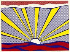 ROY LICHTENSTEIN - SUNRISE - GREGG SHIENBAUM FINE ART MIAMI  http://www.widewalls.ch/artwork/roy-lichtenstein/sunrise-2/ #Print